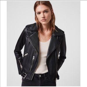 NWT AllSaints Balfern Leather Moto Biker Jacket